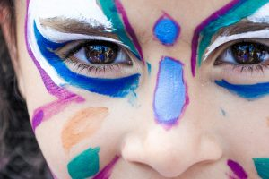 girl child with face painting